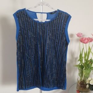 Tops - Tank top with leather details.